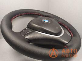 Перетянутый руль BMW X5 E70 2007 вид сбоку - 1