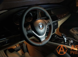 Перетянутый руль BMW X5 E70 2007 - 5