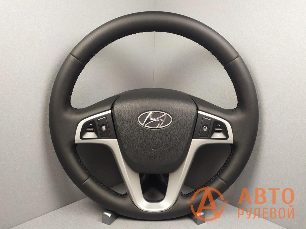 Перетянутый руль Hyundai Solaris 1 поколение 2012