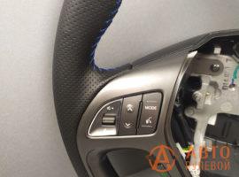 Перетянутый руль Hyundai ix35 1 поколение рестайлинг 2014 - 4