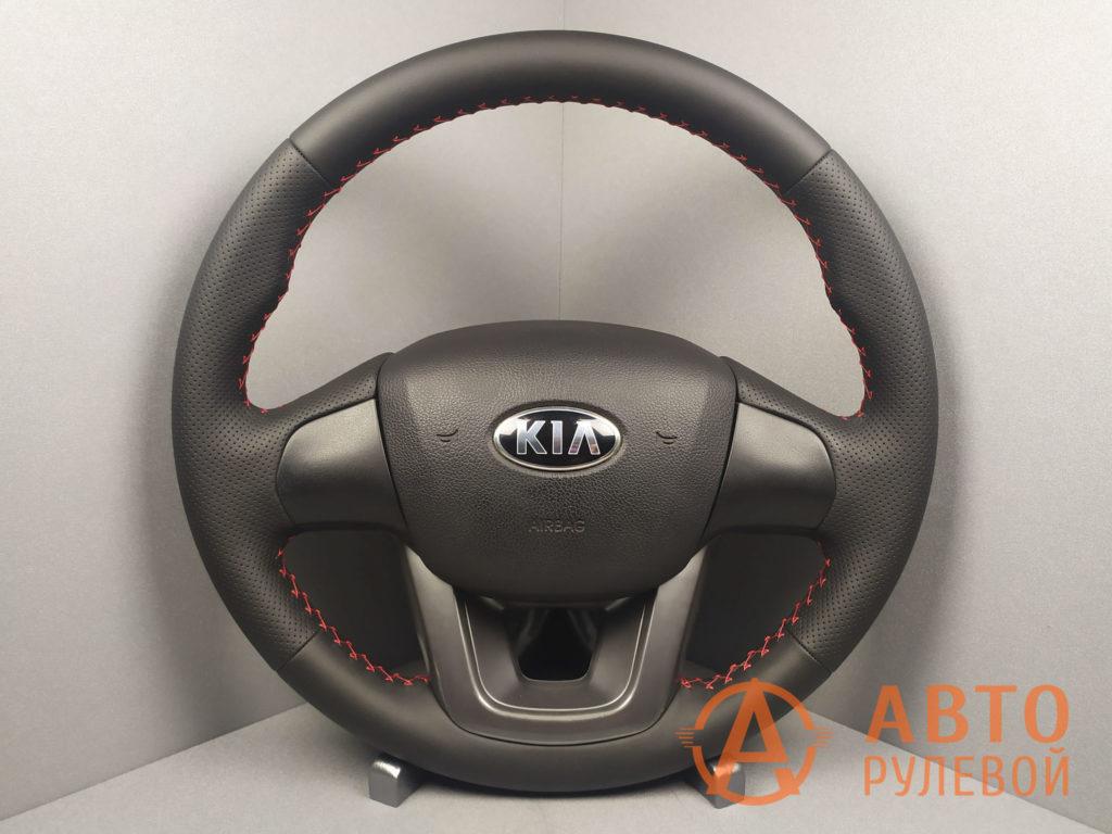 Перетянутый руль Kia Rio 3 поколение 2013