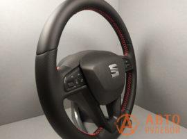 Перетянутый руль SEAT Leon 3 поколение 2013 вид сбоку - 4