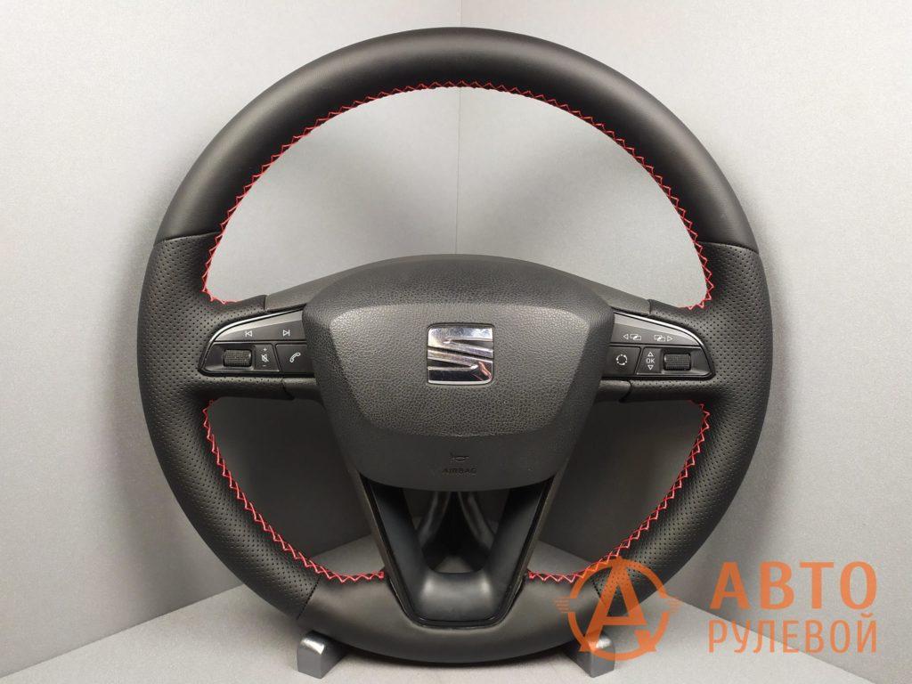 Перетянутый руль SEAT Leon 3 поколение 2013
