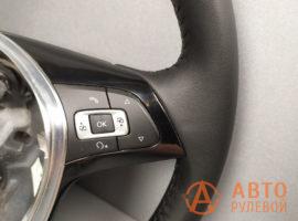 Перетянутый руль Volkswagen Jetta 6 поколение (NF) рестайлинг 2016 - 4