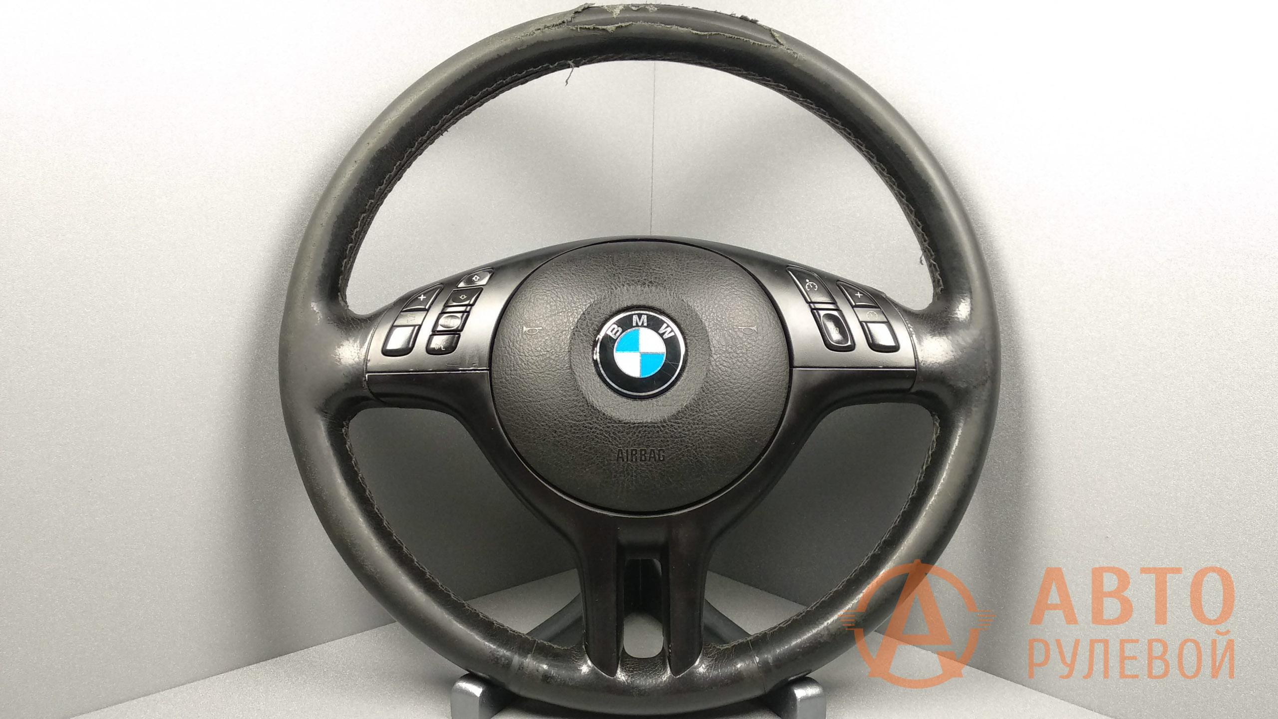 Потрёпанный руль BMW 3-Series E46 2002 до перетяжки