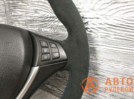 Перетянутый руль в кожу с алькантарой BMW X5 2 поколение (E70) 2007 - 2