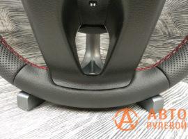 Перетянутый руль в кожу 2 Kia Cerato 4 поколение 2020 вид сзади - 3