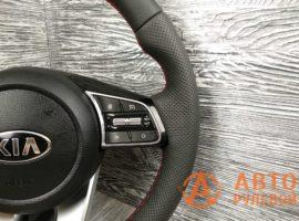 Перетянутый руль в кожу 2 Kia Cerato 4 поколение 2020 - 1