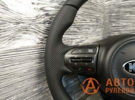 Перетянутый руль в кожу Kia Optima 3 поколение (TF) — рестайлинг 2014 - 1