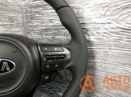 Перетянутый руль в кожу Kia Optima 3 поколение (TF) — рестайлинг 2014 - 2