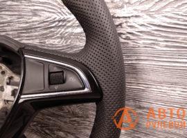 Перетянутый руль в кожу Skoda Superb 2 поколение (3T) - рестайлинг 2015 - 1