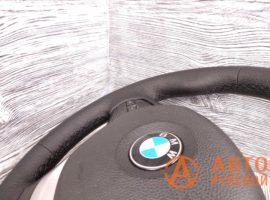 Перетянутый руль в экокожу BMW 1-Series 2 поколение (F20) 2011 вид сбоку - 2