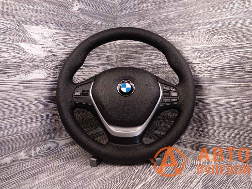 Перетянутый руль в экокожу BMW 1-Series 2 поколение (F20) 2011
