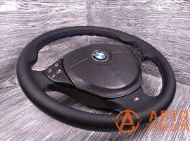 Перетянутый руль в экокожу BMW M5 3 поколение (E39) 1998 вид сбоку - 1