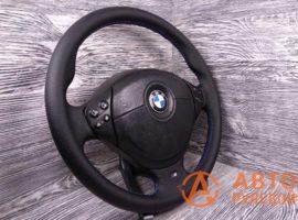 Перетянутый руль в экокожу BMW M5 3 поколение (E39) 1998 вид сбоку - 3