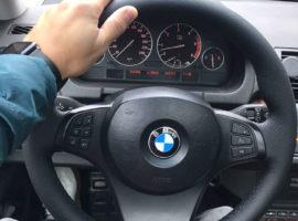 Перетянутый руль в экокожу BMW X5 1 поколение (E53) — рестайлинг 2006 установлен на место - 2