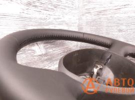 Перетянутый руль в экокожу Fiat Doblo 1 поколение (223) - рестайлинг 2007 вид сбоку - 1