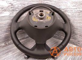 Перетянутый руль в экокожу Fiat Doblo 1 поколение (223) - рестайлинг 2007 вид сзади - 1