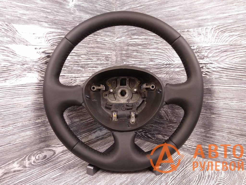 Перетянутый руль в экокожу Fiat Doblo 1 поколение (223) - рестайлинг 2007